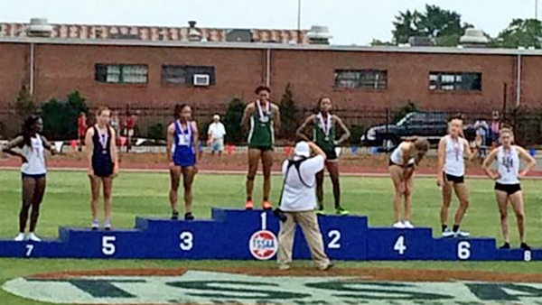Jasmine Allen finished 3rd in the 400 at the State Championships.