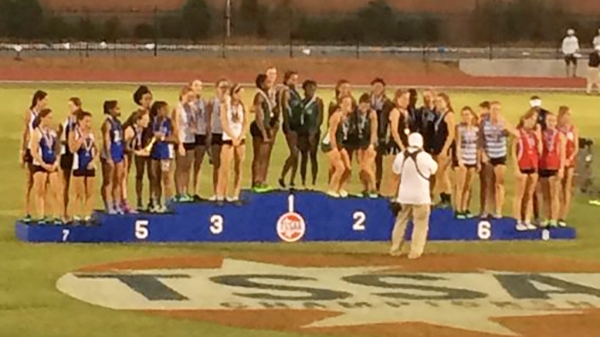 Our 4x400 team of Sarah Luttrell, Kynadi Brasfield, Jasmine Allen, and Cami Bea Austin finished 5th.