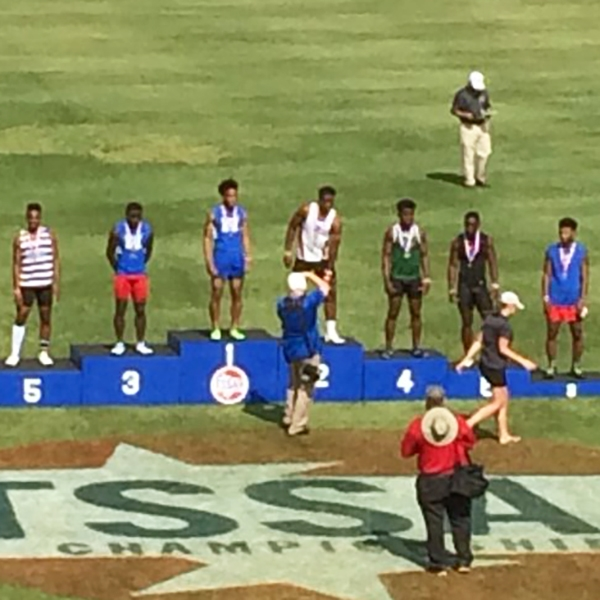 Calvin Austin III is the State Champion in the 100 and Nick Martin finished 3rd.