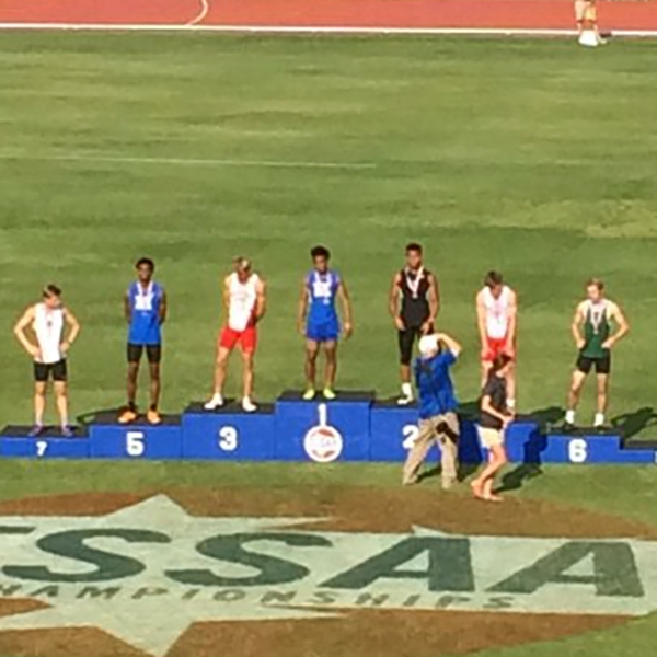 Calvin Austin III is the State Champion in the 400 and Julian Isabel finished 5th.