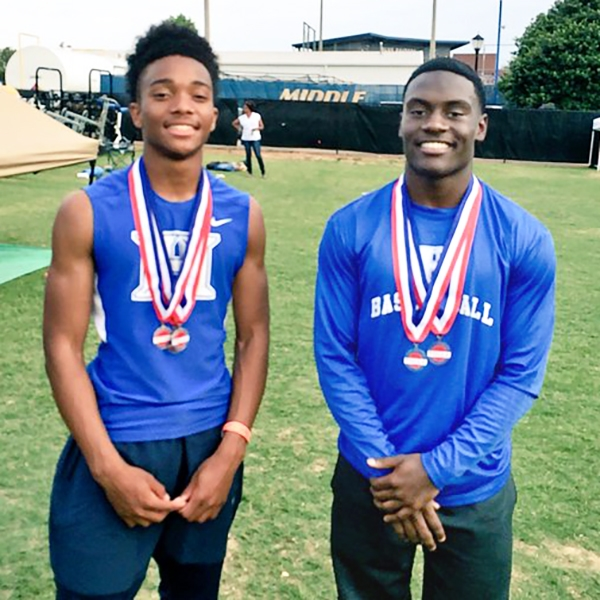 Calvin Austin III and Nick Martin. The fastest guys in the state. On the same team.