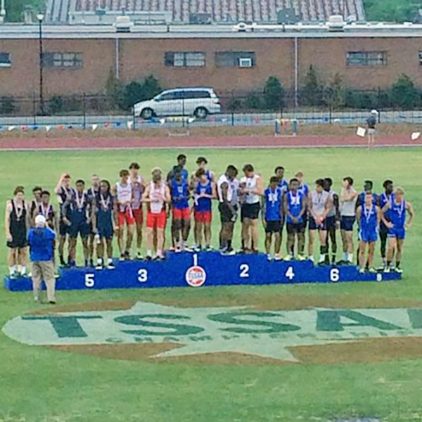 Our team of Ty Kimberlin, Adam Jackson, Charles Nichols, & Julian Isabel go 4th in the 4x400 at the State Championships!