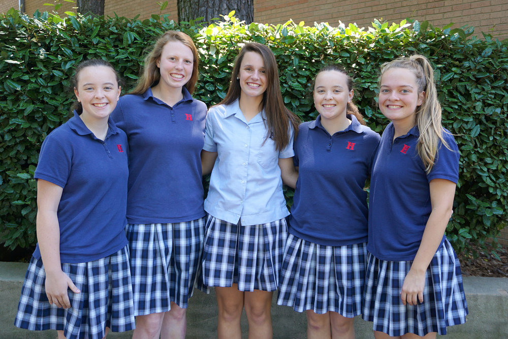 L to r: Sarah Coleman, Kayley Underwood, Kendall Ford, Emily Coleman, Melissa King