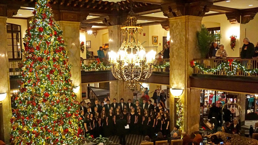 A Cappella Christmas concert Peabody Hotel 2016