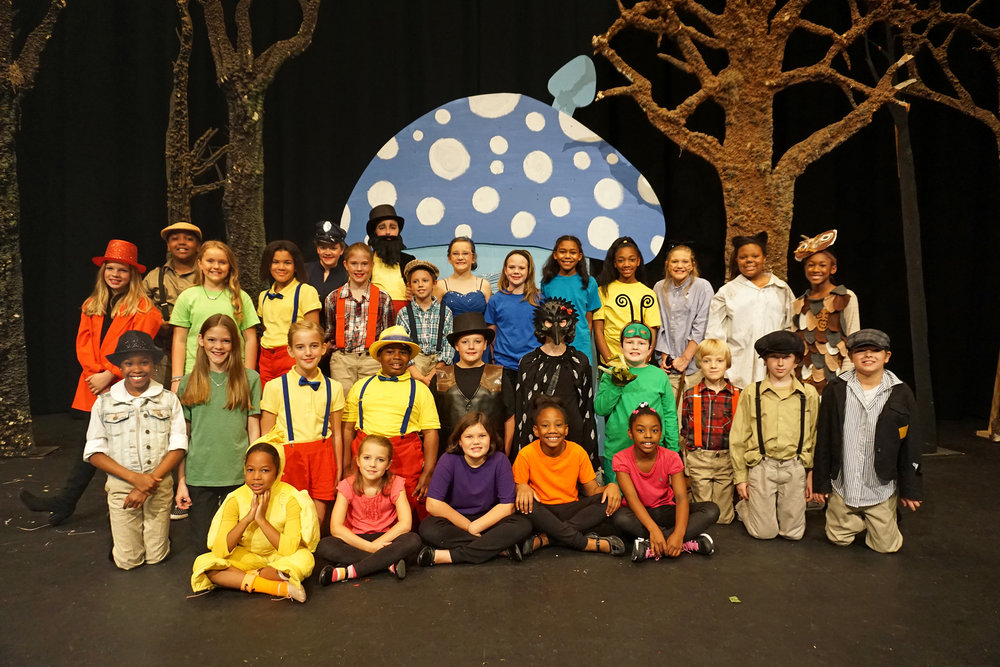 The cast of  The Adventures of Pinocchio