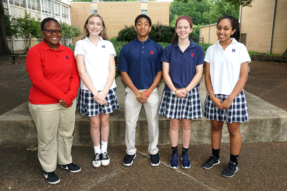 L to r: Jocelyn Bringht, Brooke Kenworthy, Jordan Clay, Mary Paige Rowsey, Liliana Mohammed
