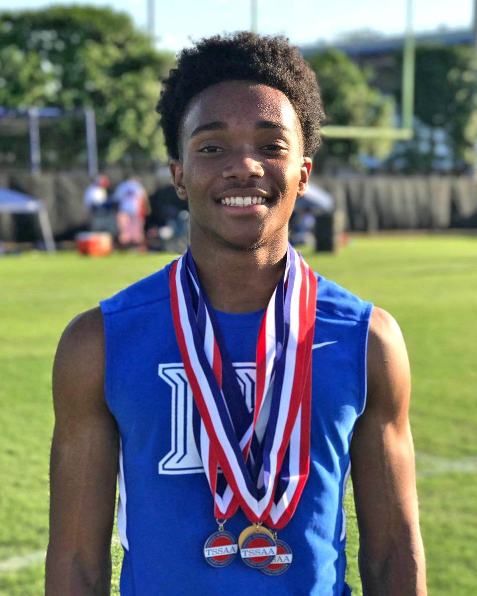 🥇 100 meter dash, 🥇 200 meter dash, 🥇 400 meter dash, 🥇 4x200 meter relay This is the 2nd straight year that Calvin has swept the 100, 200, and 400, and the 3rd straight year he's the 200 state champion.