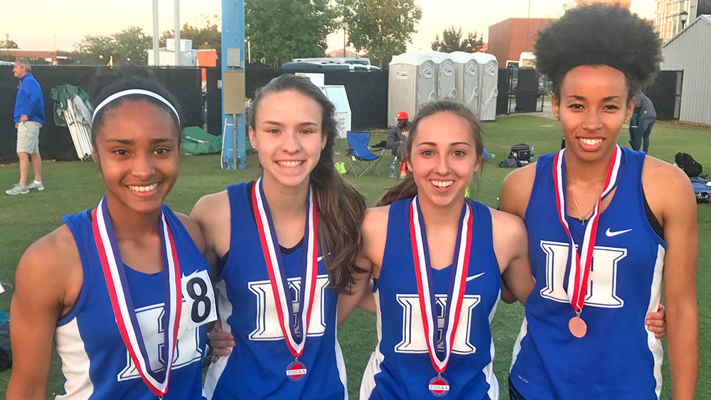 Congratulations to our 4x400 team of Jasmine Allen, Abigail Howell, Deanna Hutson, and Kynadi Brasfield for an 8th place finish at the state championships!