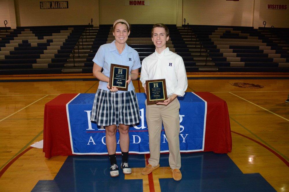 Faculty Awards Grades 10–12