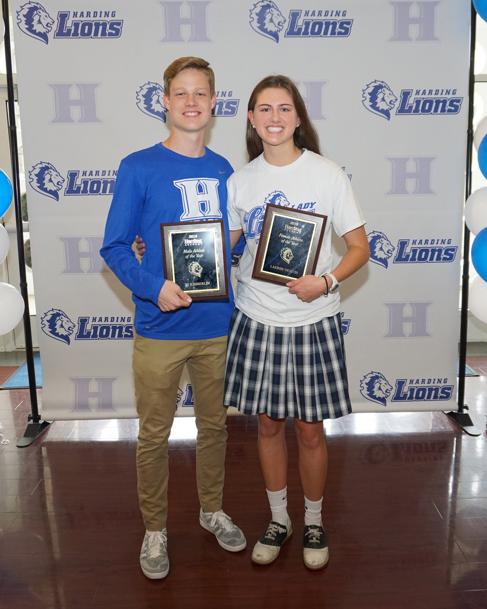 Male Athlete of the Year: Ty Kimberlin   Female Athlete of the Year: Lauren Deaton