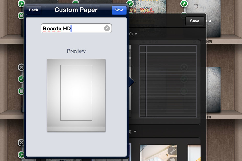 Saving the Custom Papers in Noteshelf