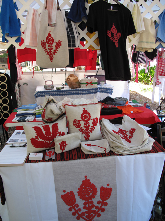 The ThreadWritten booth at the festival, May 10, 2014, Belmont, Ca.