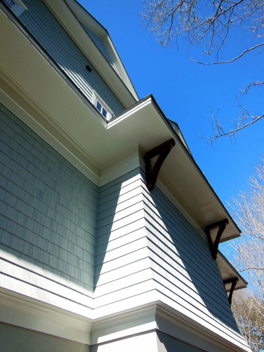 The flair detail was a success due to a great exterior trim crew and a great product that Nichiha provided.