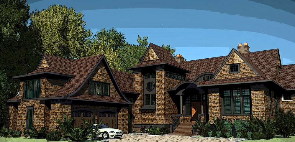 Rendering of a private residence on Kiawah Island, South Carolina