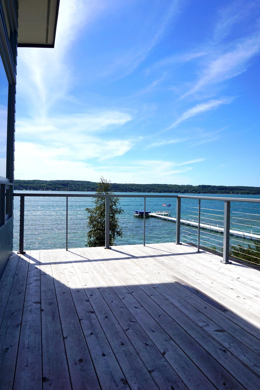 Master Bedroom Deck - Lake Charlevoix