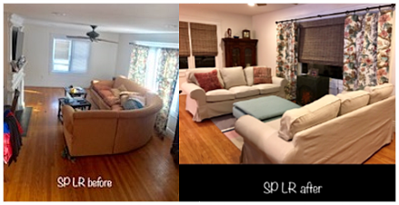 Client living Room Before & AFTER