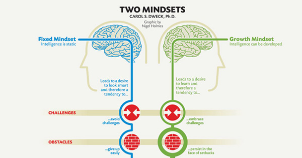 fixed mindset or growth mindset