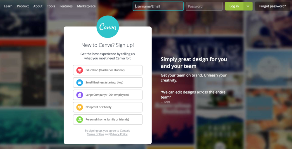 Canva - Canva has all the elegant design options of a complicated program, but it is very, very, very easy to use. This alone means that it is my go-to for the classroom. Also, students who pride themselves on excellent work yet have a sense of working efficiently take quickly to Canva's functionality. The templates are also quite professional and pleasant.