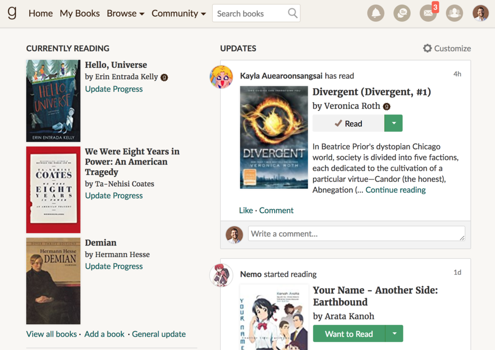 GoodReads - This social media platform knows that reading is best when shared. Students can add books as they read them, write reviews, set reading goals, and make reading suggestions to their friends. Teachers can create classrooms, monitor reading progress in an authentic way, and keep up-to-date with current high interest reads. Amazon has been integrating GoodReads, Kindle, and Audible, which has yielded a unified user experience.