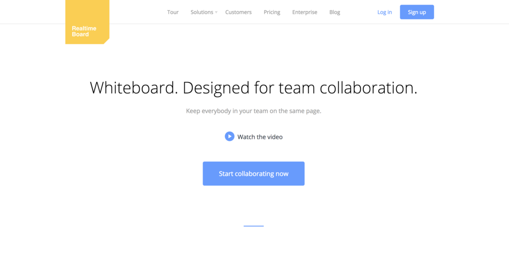 RealTimeBoard - Personally, this is my favorite brainstorming website that approximates the experience of working at a whiteboard. The collaborative features are impressive, and the sprawling products that emerge are enlightening. We will see if Jamboard can take what RealTimeBoard does and extend it.