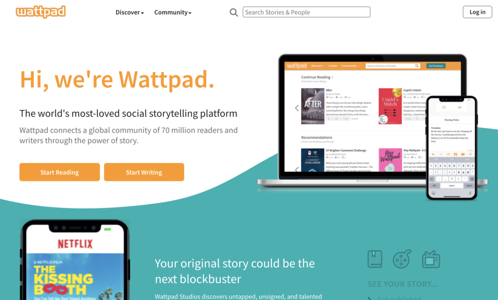 Wattpad - The first time I heard of Wattpad, a student hinted that I should ask her friend about her Wattpad profile. It turns out that she had over a thousand readers and was getting constant, constructive feedback from hundreds. I could not believe that there was such a thriving atmosphere for young writers. I convinced the budding author to share with the class, and I have never seen dozens of students more motivated to write creatively than when involved with this site.