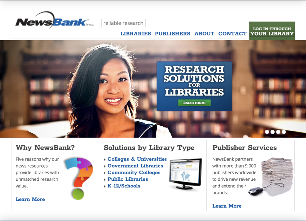 NewsBank - When our librarian showed me the FBIS NewsBank database, I am blown away by the breadth of available articles. I was able to quickly find a half dozen relevant articles for an event in the late 1800s and assemble a reading group based on what I found. This is a powerful teacher's tool for finding primary sources and contemporary opinions during historical events.