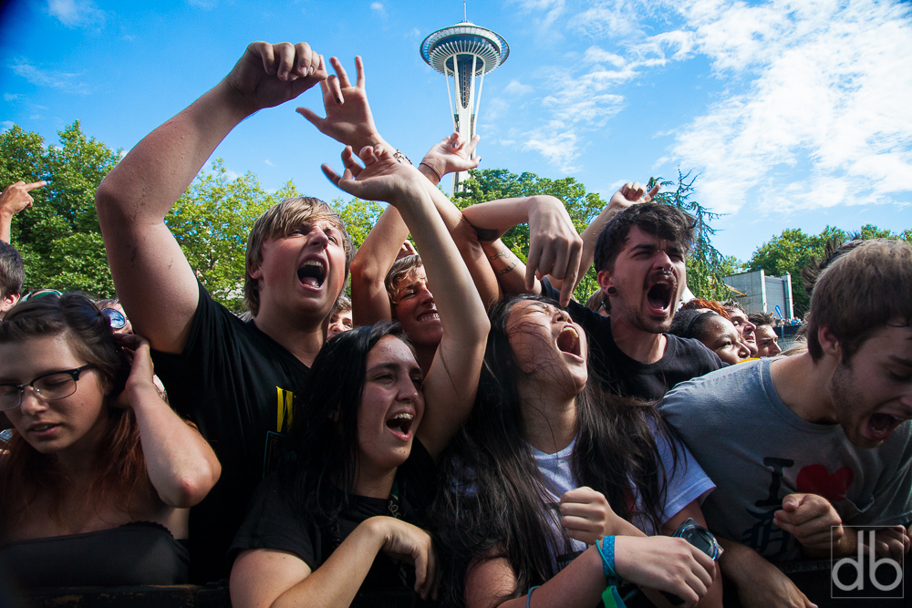 Some fans at Bumbershoot