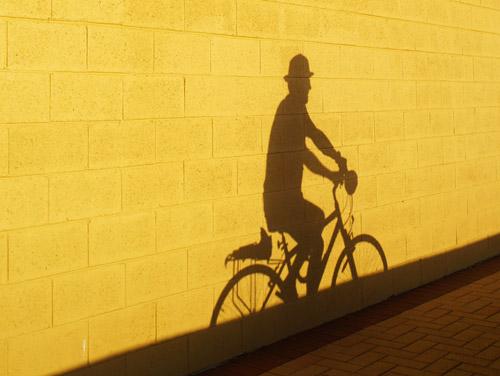 Man on Bike. © Audun Mo