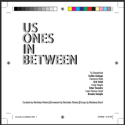"Print Proof for the ""Us Ones In Between"" title page"