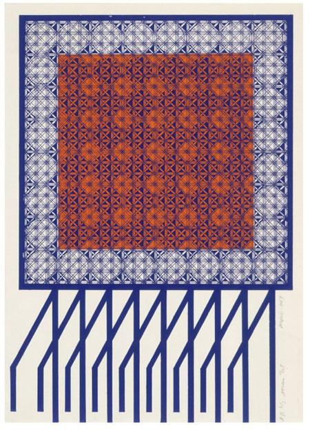 Title: Screen Test  Artist: Michael Morris  Date: 1967  Format: Print