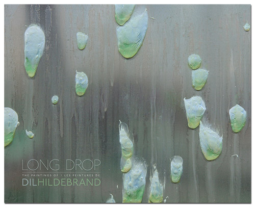 Cover - Long Drop: The Paintings of Dil Hildebrand. Published by Anteism