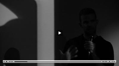 Luke Ramsey talking at Pictoplasm Festival