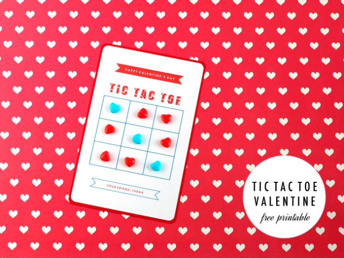 Tic Tac Toe Valentines via Sally J Shim