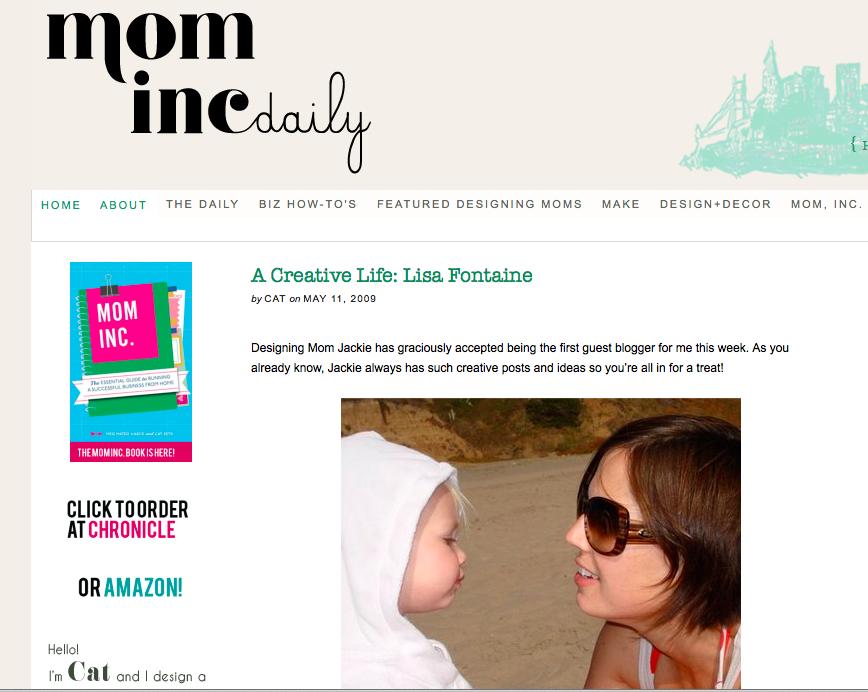 A Creative Life on Mom Inc. Daily