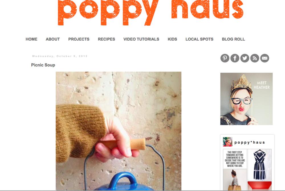 Pumpkin Soup Recipe on Poppy Haus