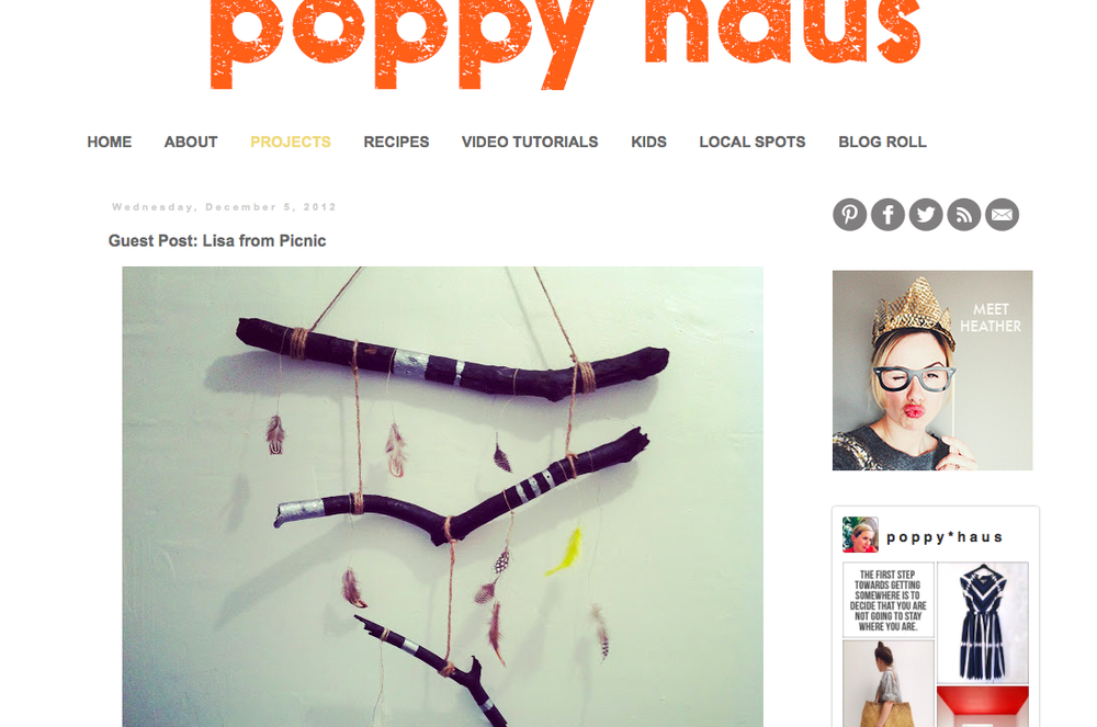 A Nature Mobile DIY on Poppy Haus