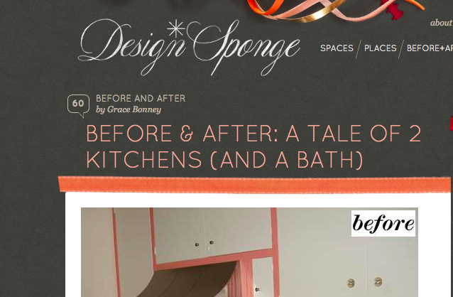 Before and After remodeling photos on Design Sponge