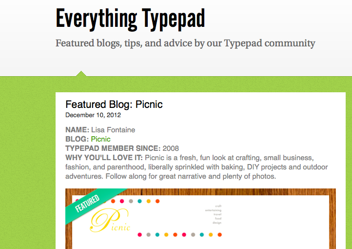 Featured Blog on Everything Typepad