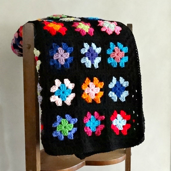 Granny Square Afghan by ReneeBrownsDesigns, $97
