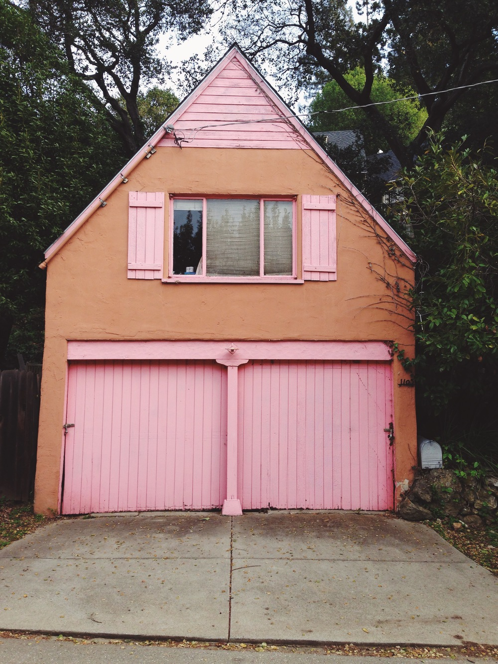An unusual paint choice for the Berkeley Hills.