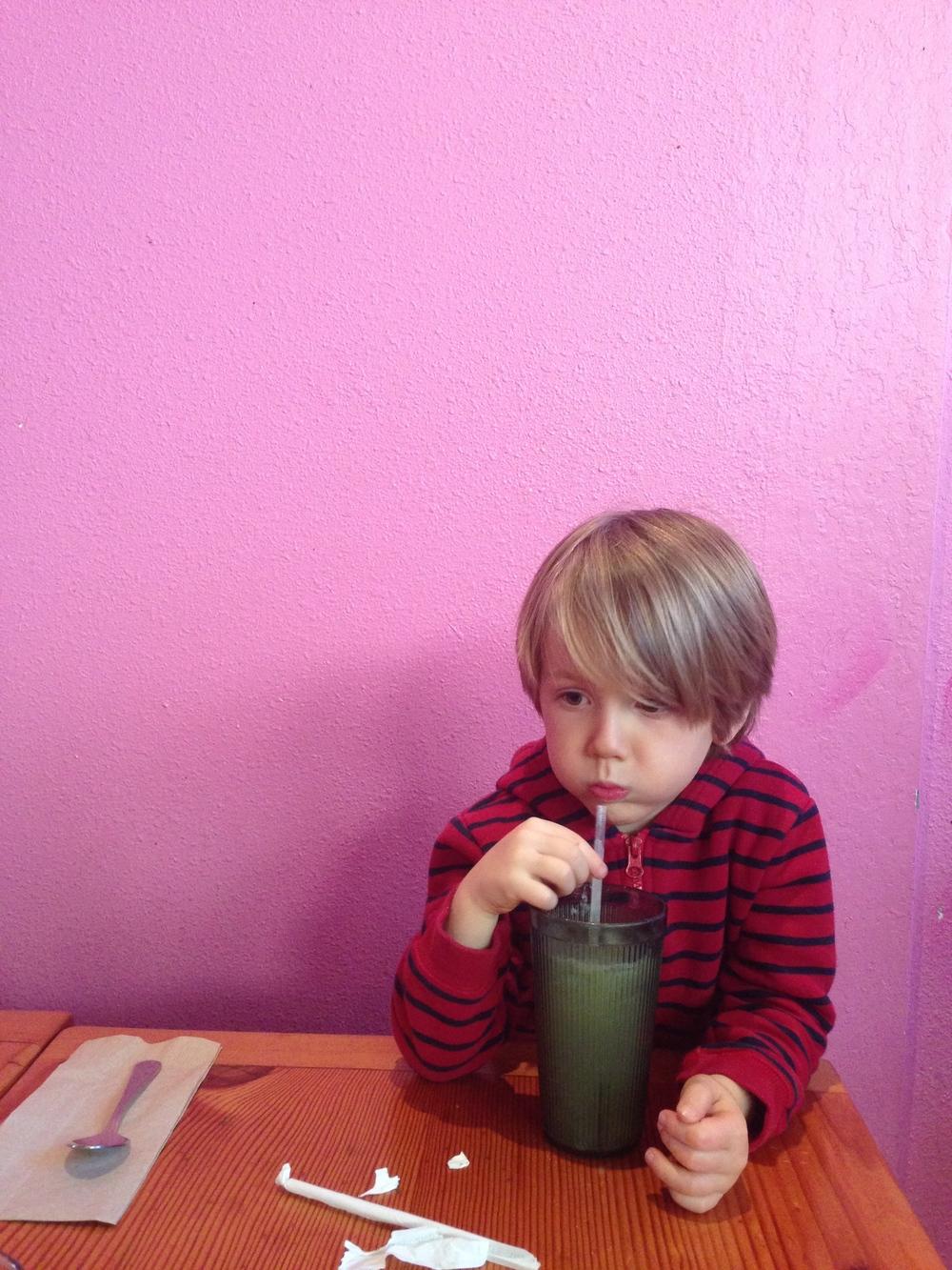 Eero at his favorite taqueria.