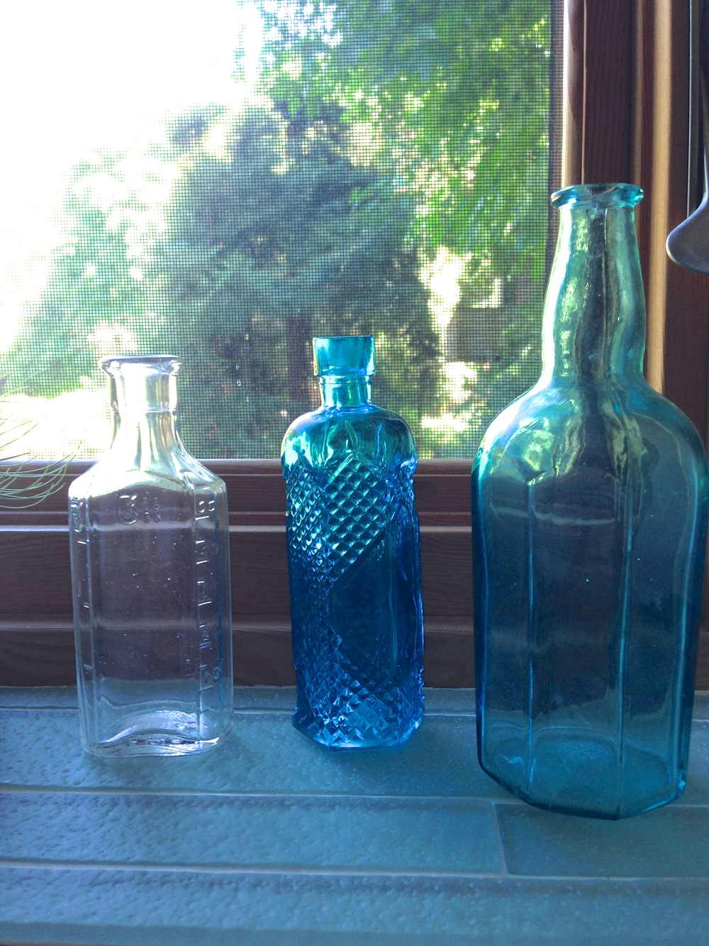 Old bottles, $0.50 each