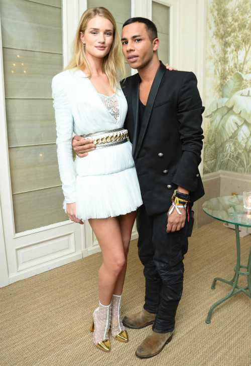 with Olivier Rousteing the designer