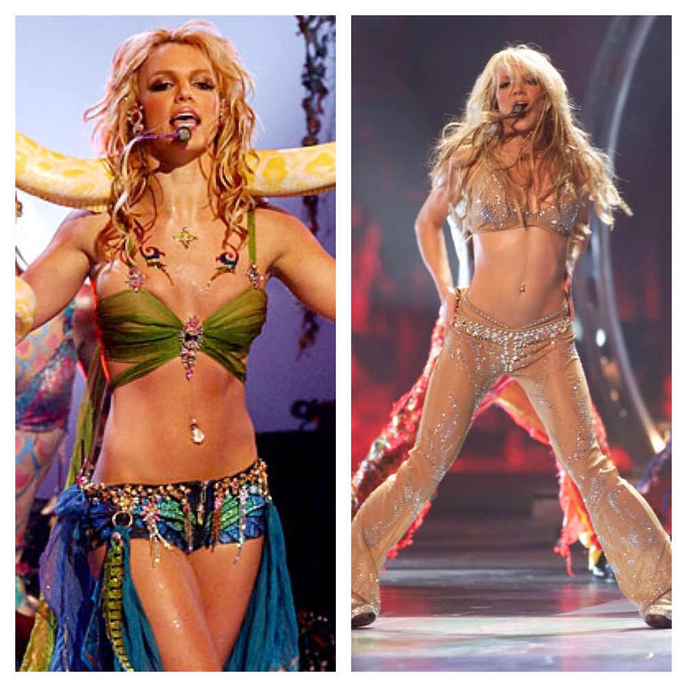 Left : 2001 I'm a slave 4 U  /  Right : 2000 Satisfaction & Oops...! I did it again.