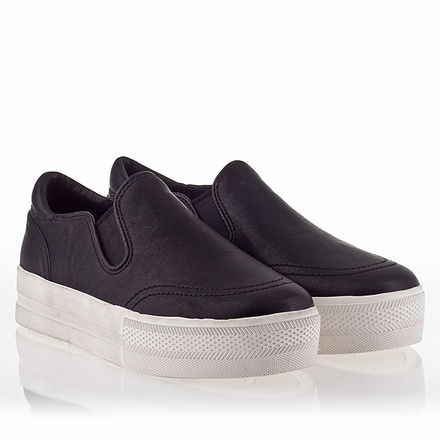 ASH / $170 / Black Leather Slip-On