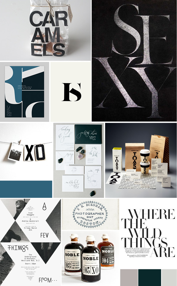 sosally design | typographic mood board