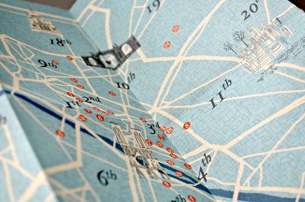 herb lester | paris map