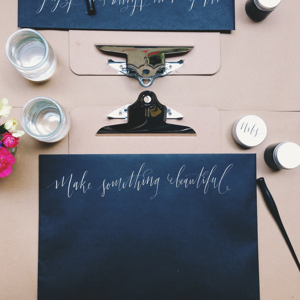 Modern calligraphy class sally mussellwhite