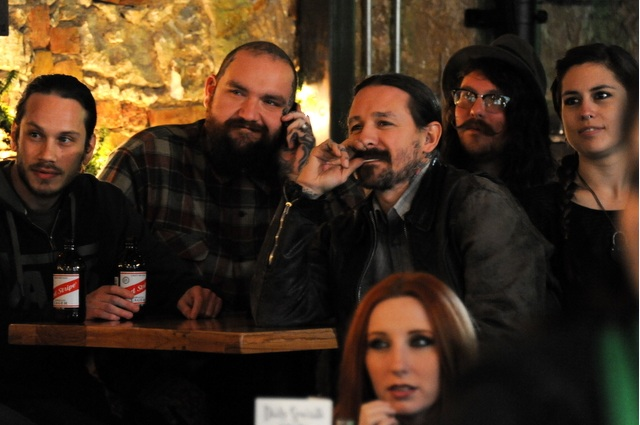"Viewing party for debut of ""Ink Masters"" starring Oliver Peck.  Copyright:  Raine Devries"