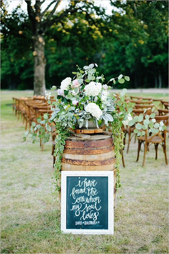 How To Style And Incorporate Whiskey Barrels Into Your Wedding